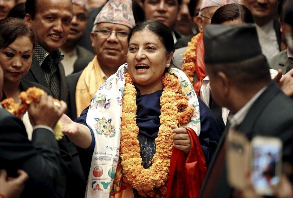 Nepal's President Bidhya Bhandari.jpg